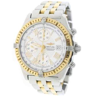 Breitling Windrider Crosswind D13355 Stainless Steel & Gold White Dial 43mm Mens Watch