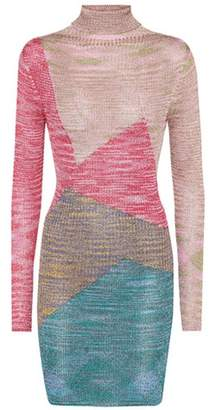 Missoni Knitted long-sleeved minidress