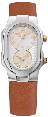Philip Stein Women&s Small Signature Dual Time Zone Watch $795 thestylecure.com