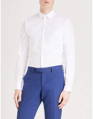 Tiger of Sweden Brody honeycomb extra slim-fit stretch-cotton shirt