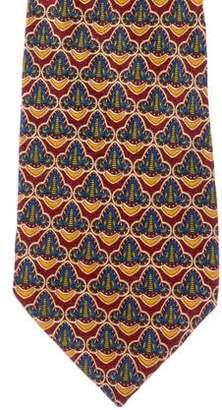 Valentino Mandala Print Silk Tie