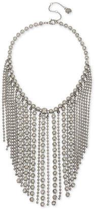 "BCBGeneration Bcbg Hematite-Tone Crystal & Chain Fringe Statement Necklace, 16"" + 3"" extender"
