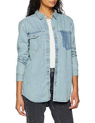 Superdry Women's Oversized Denim Shirt Casual (Pacific Blue 6g6), (Size: 14.0)
