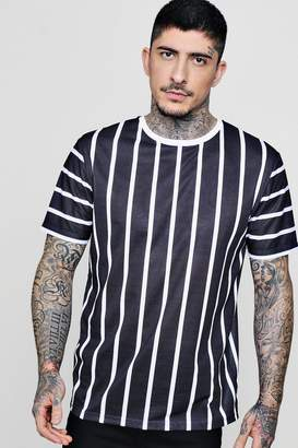 boohoo Sports Stripe Sublimation T-Shirt