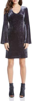 Karen Kane Velvet Bell Sleeve Dress