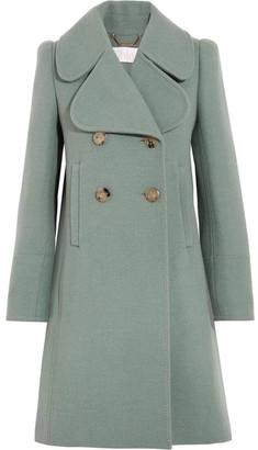 Chloé - Double-breasted Wool-blend Felt Coat - Green