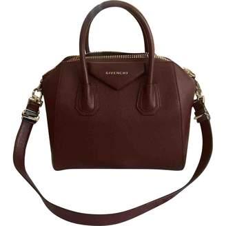 Givenchy Antigona Burgundy Leather Handbag