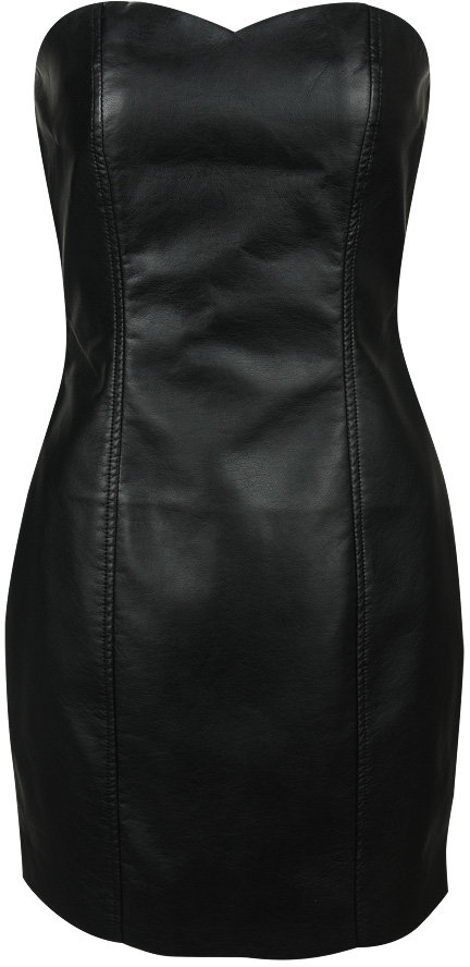 Forever 21 Faux Leather Strapless Dress
