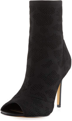 Charles by Charles David Rebellious Eyelet Stretch Peep-Toe Bootie