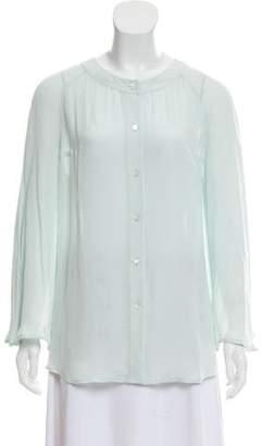 Tamara Mellon Silk Long Sleeve Top