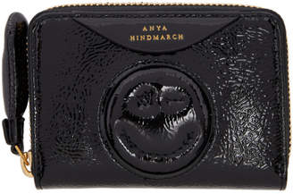 Anya Hindmarch Black Small Chubby Wink Wallet