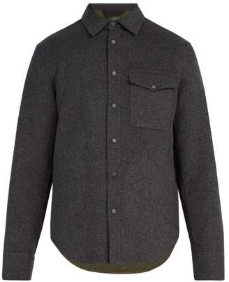 Rag & Bone Principle Wool Blend Overshirt - Mens - Grey