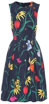 Carolina Herrera Floral cotton-blend dress
