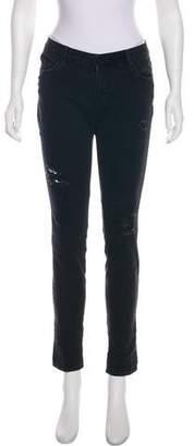 RtA Denim Distressed Mid-Rise Jeans