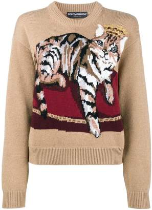 Dolce & Gabbana cat cashmere blend sweater