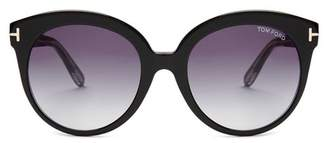 Tom Ford Monica Acetate Sunglasses - Womens - Black