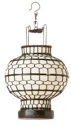 Honeycomb Lantern, White round