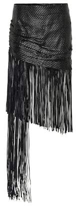 Magda Butrym St John fringed leather skirt