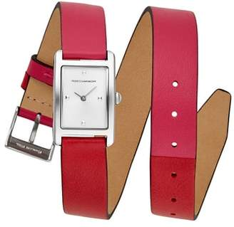 Rebecca Minkoff Moment Wrap Leather Strap Watch,