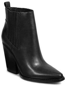 KENDALL + KYLIE Western Leather Ankle Boots