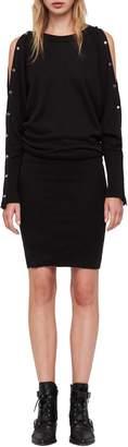 AllSaints Suzie Snap Sleeve Sweater Dress