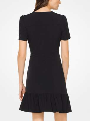 MICHAEL Michael Kors Matte-Jersey Flounce Dress