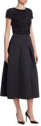 Emporio Armani Florl Alique A-Line Dress