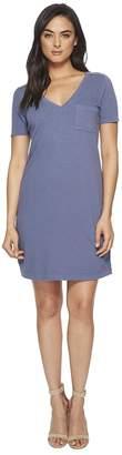 Three Dots Sueded Slub Knit T-Shirt Dress Women's Dress