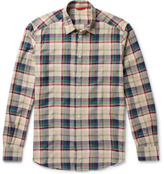 Barena Checked Flannel Shirt - Men - Cream