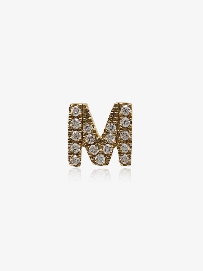 Loquet M diamond letter charm