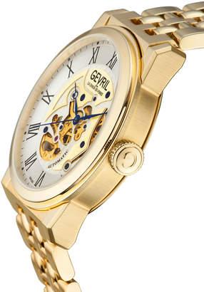 Gevril Men's Automatic Vanderbilt Gold tone Stainless steel Bracelet Watch