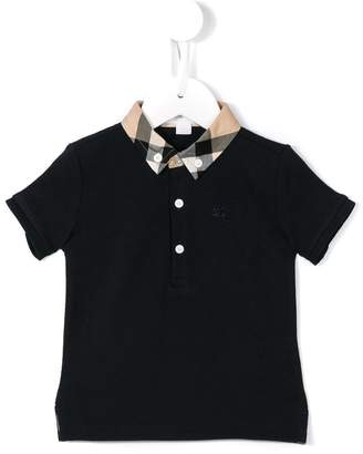 Burberry checked collar polo shirt