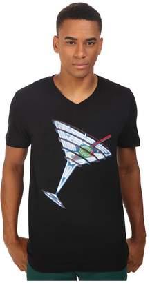 Life is Beautiful Neon Martini - V-Neck Tee T Shirt