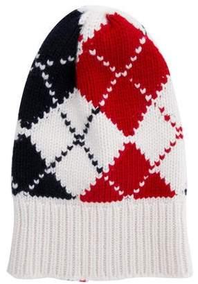 0910c49abb2 Thom Browne Argyle Rib Knit Beanie