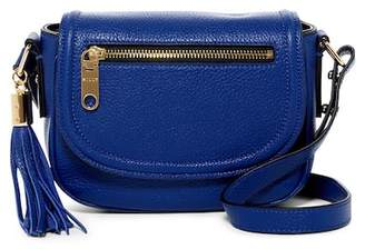 Milly Astor Leather Small Saddle Crossbody Bag