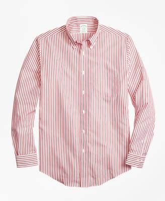 Brooks Brothers Non-Iron Milano Fit Border Stripe Sport Shirt