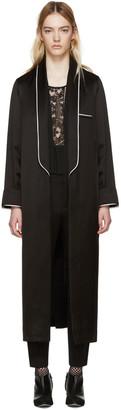 Haider Ackermann Black Satin Peignoir Coat $1,830 thestylecure.com