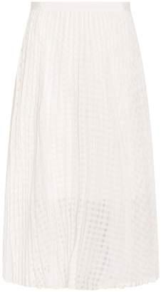 Tibi Windowpane Jacquard Skirt