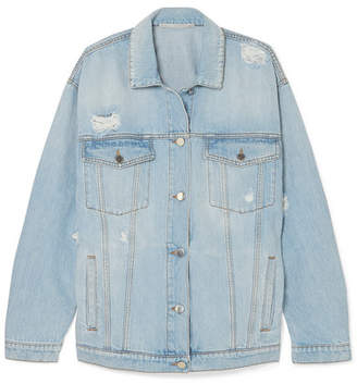 Stella McCartney Oversized Distressed Denim Jacket - Blue