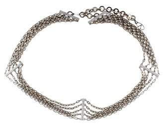 Valentino Embellished Chain-Link Belt Silver Embellished Chain-Link Belt
