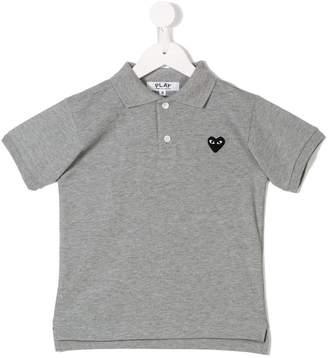 Comme des Garcons Kids heart polo shirt
