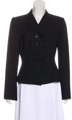 Armani Collezioni Double-Breasted Wool Blazer