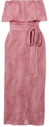 Vix Salar Wrap-effect Voile Midi Dress - Antique rose