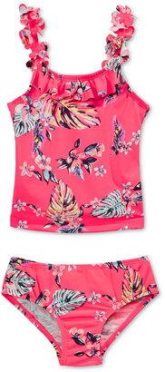 Oshkosh B'Gosh 2-Pc. Tropical-Print Tankini Swimsuit, Toddler & Little Girls (2T-6X) $38 thestylecure.com