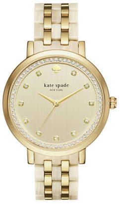 Kate Spade Analog Monterey Goldtone and Acetate Bracelet Watch
