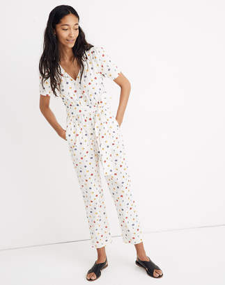 9b9a0f2ce5 Madewell Puff-Sleeve Tapered Jumpsuit in Confetti Floral