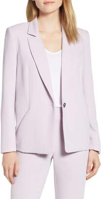 1 STATE 1.STATE Textured Crepe Single Button Blazer