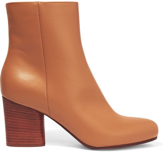 Maison Margiela - Leather Ankle Boots - Tan $890 thestylecure.com
