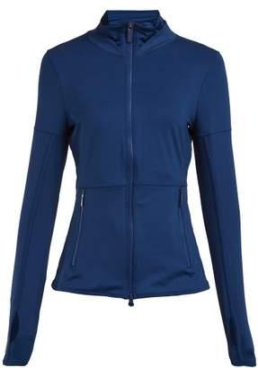 adidas by Stella McCartney Essential Mesh Panel Performance Jacket - Womens - Blue