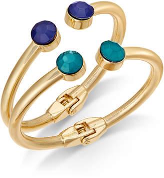 INC International Concepts I.n.c. Gold-Tone 2-Pc. Set Stone Bangle Bracelets, Created for Macy's